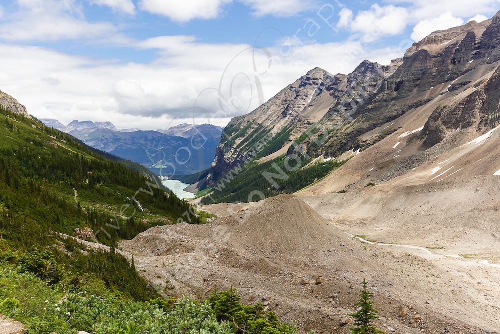 Hiking from Chateau Lake Louise to the Plain of Six Glaciers<br /> <br /> ©2015, Sean Phillips<br /> http://www.RiverwoodPhotography.com