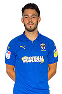 AFC Wimbledon defender Will Nightingale (5) during the official team photocall for AFC Wimbledon at the Cherry Red Records Stadium, Kingston, England on 8 August 2019.
