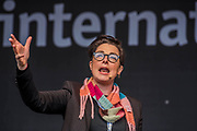 Sue Perkins Hosts - #March4Women 2018, a march and rally in London to celebrate International Women's Day and 100 years since the first women in the UK gained the right to vote.  Organised by Care International the march stated at Old Palace Yard and ended in a rally in Trafalgar Square.