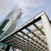 The Bahn Tower and the Bahnhof at Potsdamer Platz, Berlin, Germany