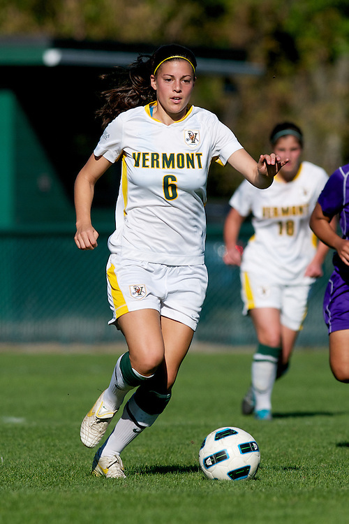 The women's soccer game between the Albany Great Danes and the Vermont Catamounts at Centennial Field on October 9, 2011 in Burlington, Vermont.