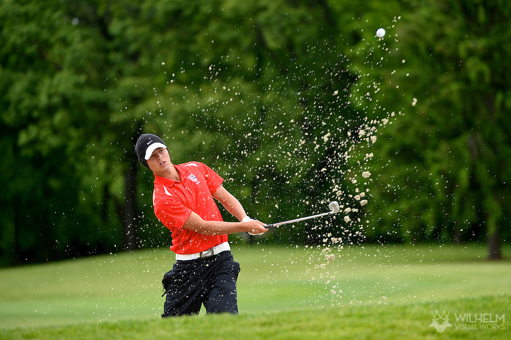 24 MAY 2013:  Adam Svensson of Barry University during the 2013 NCAA Men's Division II Golf Championship held at Hershey Country Club in Hershey, PA. Barry defeated Lynn on cumulative stroke total to win the national team title. Brett Wilhelm/ NCAA Photos