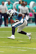 Tennessee Titans running back DeMarco Murray (29) jumps in the air as he runs for a fourth quarter gain of 8 yards to the Miami Dolphins 35 yard line during the 2016 NFL week 5 regular season football game against the Miami Dolphins on Sunday, Oct. 9, 2016 in Miami Gardens, Fla. The Titans won the game 30-17. (©Paul Anthony Spinelli)