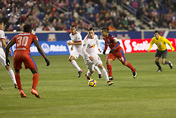 March 1, 2018 - Harrison, New Jersey, United States - Alex Muyl (19) of New York Red Bulls controls ball during 2018 CONCACAF Champions League round of 16 game against CD Olimpia of Honduras at Red Bull arena, Red Bulls won 2 - 0  (Credit Image: © Lev Radin/Pacific Press via ZUMA Wire)