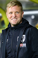 Bournemouth manager Eddie Howe during the EFL Cup match between Burton Albion and Bournemouth at the Pirelli Stadium, Burton upon Trent, England on 25 September 2019.