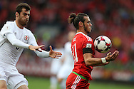 Gareth Bale of Wales in action. Wales v Georgia , FIFA World Cup qualifier, European group D match at the Cardiff city Stadium in Cardiff on Sunday 9th October 2016. pic by Andrew Orchard, Andrew Orchard sports photography