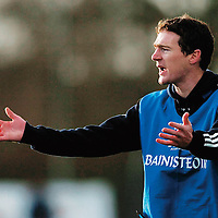 30 November 2007; Manager James Troy, West Clare Gaels, Clare, during the match. VHI Healthcare All-Ireland Ladies Junior Club Football Championship Final, West Clare Gaels, Clare v Foxrock Cabinteely, Dublin, Toomevarra, Co. Tipperary. Picture credit: Brian Lawless / SPORTSFILE *** NO REPRODUCTION FEE ***