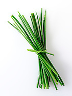 Bunch of fresh chives leaves