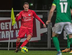 Frederik Bay (FC Helsingør) under kampen i 1. Division mellem Viborg FF og FC Helsingør den 30. oktober 2020 på Energi Viborg Arena (Foto: Claus Birch).