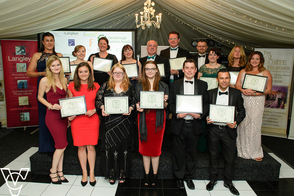 Gainsborough Business Awards 2016, held at the White Heather, Caenby Corner, near Gainsborough.  Pictured are all the award finalists<br /> <br /> Picture: Chris Vaughan/Chris Vaughan Photography<br /> Date: September 22, 2016