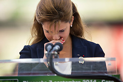 HRH Princess Haya bint Al Hussein - Show Jumping Final Four - Alltech FEI World Equestrian Games™ 2014 - Normandy, France.<br /> © Hippo Foto Team - Leanjo de Koster<br /> 07-09-14