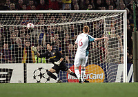 UEFA Champions League. Barcelona v Liverpool. 21.02.07<br />Pic By Karl Winter Fotosports International<br />John Arne Riise puts Liverpool ahead