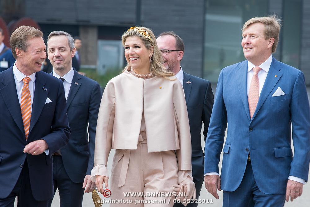 LUX/Luxembug/2 Maxima0180524 - Staatbezoek Luxemburg 2018 dag 2, Willem-Alexander en Maxima en Erfgroothertog Henri