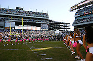 PHILADELPHIA - OCTOBER 21: Eagles Cheerleaders await the team's entrance before the game against the Chicago Bears on October 21, 2007 at Lincoln Financial Field in Philadelphia, Pennsylvania. The Bears won 19-16.
