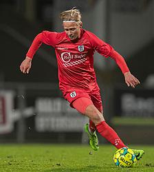 Carl Lange (FC Helsingør) under kampen i 1. Division mellem Viborg FF og FC Helsingør den 30. oktober 2020 på Energi Viborg Arena (Foto: Claus Birch).