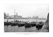 24 Meitheamh 1959<br /> Na báid ceangailte le chéile sa gcuan agus Comhlacht Gáis Bhaile Átha Cliath sa chúlra. <br /> <br /> The boats tied together in the harbour with Dublin Gas Company in the background