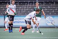 AMSTELVEEN - Bram Huijbregts (Amsterdam) tijdens de competitie hoofdklasse hockeywedstrijd heren, Amsterdam -Rotterdam (2-0) .  COPYRIGHT KOEN SUYK