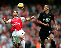 Photo: Tom Dulat/Sportsbeat Images.<br /> <br /> Arsenal v Manchester United. The FA Barclays Premiership. 03/11/2007.<br /> <br /> Eduardo of Arsenal and Rio Ferdinand of Manchester United with the ball.