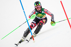 January 7, 2018 - Kranjska Gora, Gorenjska, Slovenia - Roni Remme of Canada competes on course during the Slalom race at the 54th Golden Fox FIS World Cup in Kranjska Gora, Slovenia on January 7, 2018. (Credit Image: © Rok Rakun/Pacific Press via ZUMA Wire)