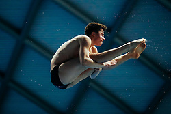 Eventual Silver Medallist Freddie Woodward from City of Sheffield Diving Club competes in the Mens 3m Springboard Final - Mandatory byline: Rogan Thomson/JMP - 11/06/2016 - DIVING - Ponds Forge - Sheffield, England - British Diving Championships 2016 Day 2.