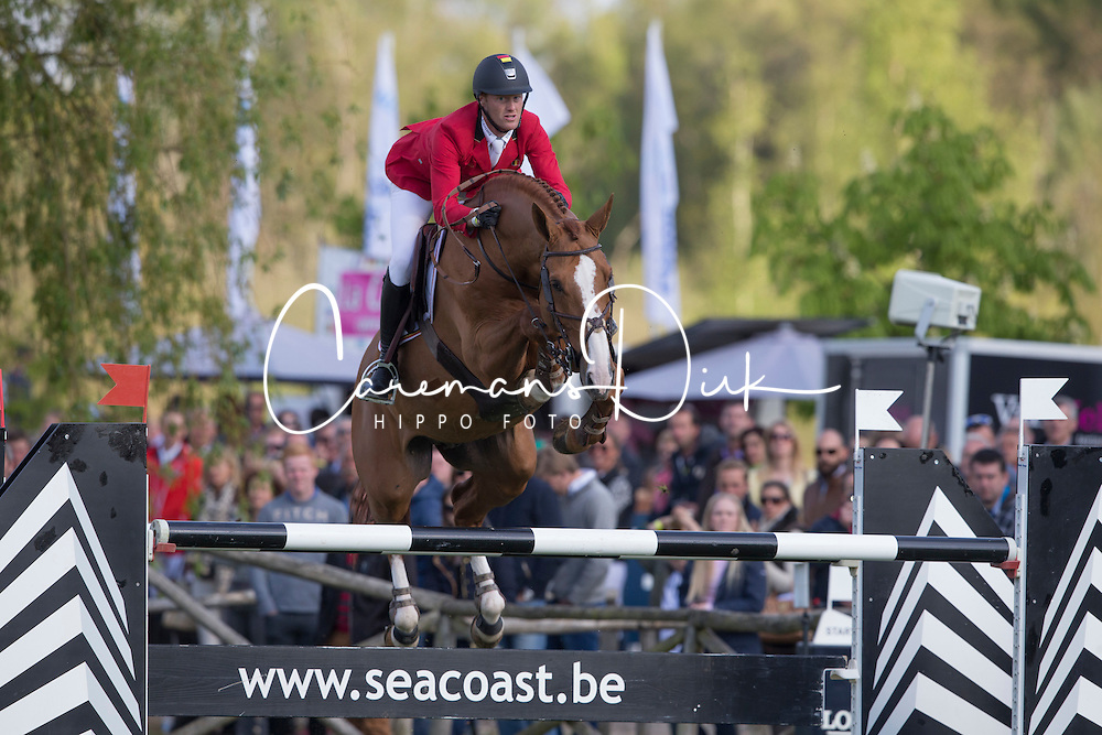 Bruynseels Niels, (BEL), Pommeau du Heup <br /> Furusiyya FEI Nations Cup of Belgium<br /> Longines Spring Classic of Flanders - Lummen 2015<br /> © Hippo Foto - Leanjo de Koster<br /> 01/05/15