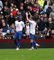 Photo: Mark Stephenson/Sportsbeat Images.<br /> Aston Villa v Portsmouth. The FA Barclays Premiership. 08/12/2007.Portsmouth's Sulley Ali Muntari (L) celebrates his goal  for 2-0