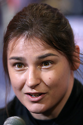 Katie Taylor during a press conference at Sky Sports Studios, Isleworth.