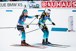 Anais Chevalier (FRA) and Antonin Guigonnat (FRA) during Single Mixed Relay at day 1 of IBU Biathlon World Cup 2018/19 Pokljuka, on December 2, 2018 in Rudno polje, Pokljuka, Pokljuka, Slovenia. Photo by Ziga Zupan / Sportida