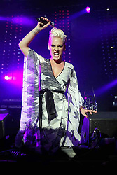 Pink plays the main stage on the Sunday of Radio 1's Big Weekend, at the Camperdown Park, Dundee, 2006...