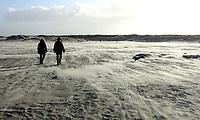 SCHIERMONNIKOOG - strand  Waddeneiland Schiermonnikoog.  ANP COPYRIGHT KOEN SUYK