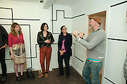 KERAN JAMES; STUDIO 1;1, Design Your Own Timberland breakfast and Autumn/ Winter 2011 preview. Timberland. 1 Fournier St. London. Followed by an art tour by Julia Royce. 8 June 2011. <br /> <br />  , -DO NOT ARCHIVE-© Copyright Photograph by Dafydd Jones. 248 Clapham Rd. London SW9 0PZ. Tel 0207 820 0771. www.dafjones.com.