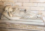 Tomb of Emma Constance Mabel Methuen died 1859 aged2, Methuen Chapel, church of Saint Bartholomew, Corsham, Wiltshire, England, UK