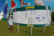 General view of member of the public looking at the draw board during the Nature Valley International at Devonshire Park, Eastbourne, United Kingdom on 27 June 2018. Picture by Martin Cole.