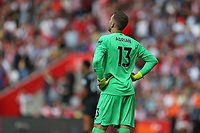 Football - 2019 / 2020 Premier League - Southampton vs. Liverpool<br /> <br /> Adrian of Liverpool can only look up after his mistake at St Mary's Stadium Southampton<br /> <br /> COLORSPORT/SHAUN BOGGUST