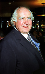 MR PETER BOIZOT founder of Pizza Express, at a party in London on 3rd November 1999.MYN 58