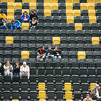 120513   Brian LEddy<br /> Fans wait for the second half of a basketball game to start at the Chinle Wildcat Den Thursday afternoon. The game was one of the first in the Coca Cola Classic basketball tournament, which concludes on Saturday.