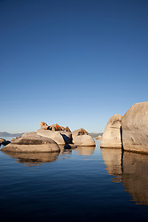 """""""Boulders at Lake Tahoe 3"""" - These boulders were photographed from a kayak early in the morning at Lake Tahoe, near Speed Boat Beach."""