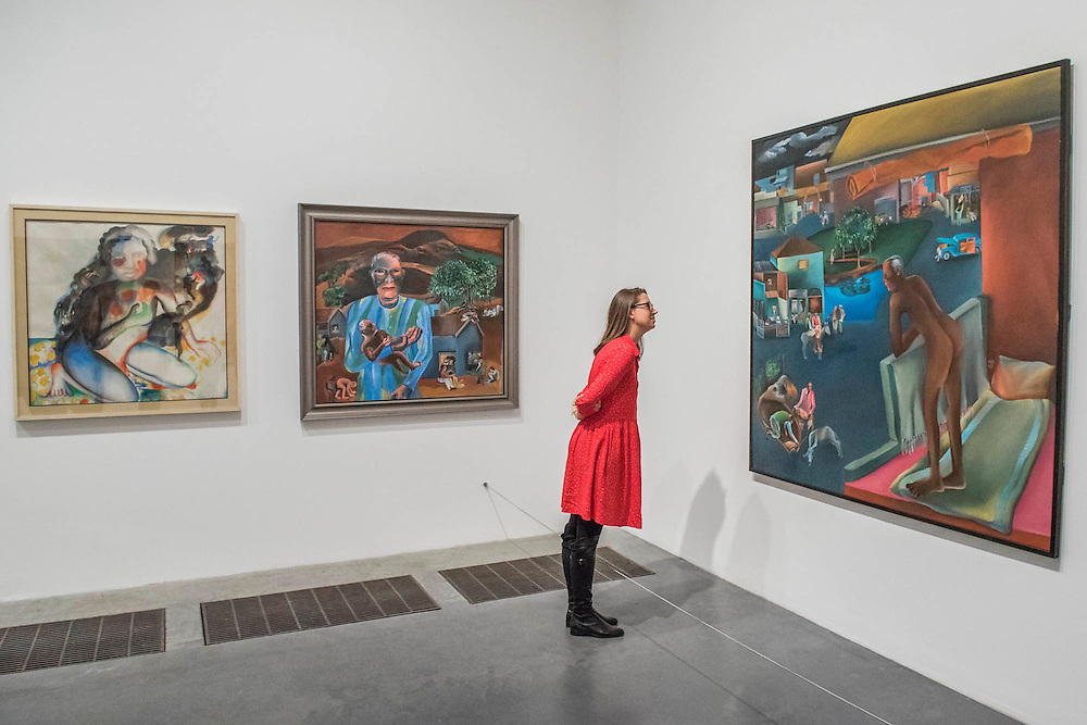 You Can't Please All (1981)  - Bhupen Khakhar: You Can't Please All at Tate Modern. It is the first international retrospective of the Indian artist since his death. He was known for his vibrant, bold works that examine class and sexuality. The Exhibition runs from 1 June – 6 November 2016.