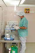 male employee in a science laboratory