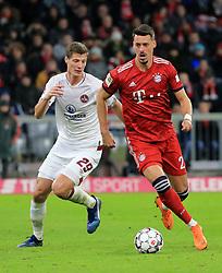 08.12.2018, 1.BL, FCB vs 1.FC Nuernberg, Allianz Arena Muenchen, Fussball, Sport, im Bild:..Patrick Erras ( 1.FC Nuernberg ) vs Sandro Wagner (FCB)..DFL REGULATIONS PROHIBIT ANY USE OF PHOTOGRAPHS AS IMAGE SEQUENCES AND / OR QUASI VIDEO...Copyright: Philippe Ruiz..Tel: 089 745 82 22.Handy: 0177 29 39 408.e-Mail: philippe_ruiz@gmx.de. (Credit Image: © Philippe Ruiz/Xinhua via ZUMA Wire)