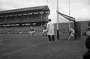 06/09/1964<br /> 09/06/1964<br /> 6 September 1964<br /> All-Ireland Senior Final: Tipperary v Kilkenny at Croke Park, Dublin.<br /> Tipperary's first goal of the match sails into the Kilkenny net from J. McKenna.
