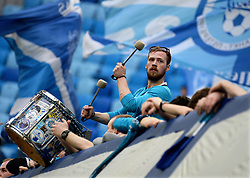 April 14, 2018 - St. Petersburg, Russia - Russia. St. Petersburg. April 14, 2018. Fans of ZENIT in a match of the Russian Football Championship between the ZENIT team (St. Petersburg) and team of ANZHI  (Credit Image: © Andrey Pronin via ZUMA Wire)