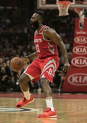 October 21, 2018 - Los Angeles, California, U.S - James Harden #13 of the Houston Rockets during their NBA game with the Los Angeles Clippers on Sunday October 21, 2018 at the Staples Center in Los Angeles, California. (Credit Image: © Prensa Internacional via ZUMA Wire)