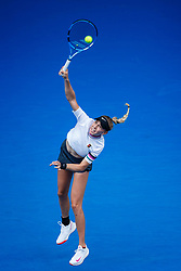 January 19, 2019 - Melbourne, VIC, U.S. - MELBOURNE, VIC - JANUARY 18: AMANDA ANISMOVA (USA) during day five match of the 2019 Australian Open on January 18, 2019 at Melbourne Park Tennis Centre Melbourne, Australia (Photo by Chaz Niell/Icon Sportswire) (Credit Image: © Chaz Niell/Icon SMI via ZUMA Press)