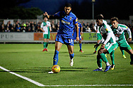 AFC Wimbledon forward Jake Jervis (10)on the ball during the EFL Sky Bet League 1 match between AFC Wimbledon and Plymouth Argyle at the Cherry Red Records Stadium, Kingston, England on 26 December 2018.
