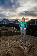 Jackie DeWolfe, Scout Lake, Uintas, Utah.
