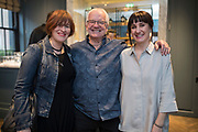 NO FEE PICTURES<br /> 12/4/18 Eleanor McEvoy, Norman Hewson and Leah Hewson at the launch of Jenny Huston and Leah Hewson's jewellery and fine art collaboration, Edge Only x Leah Hewson at The Dean Dublin. Arthur Carron