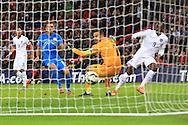 Danny Welbeck of England scores the third goal - England vs. Slovenia - UEFA Euro 2016 Qualifying - Wembley Stadium - London - 15/11/2014 Pic Philip Oldham/Sportimage