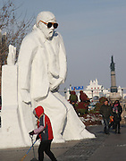 HARBIN, CHINA - DECEMBER 30:  China Out - finland out<br /> <br /> Michael Jackson's Snow Sculpture<br /> <br /> A snow sculpture of Michael Jackson stands at Centre Street on in Harbin, Heilongjiang Province of China. <br /> ©Exclusivepix