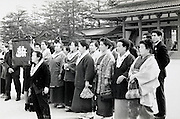 Japanese group traveling Japan 1960s